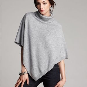 Eileen Fisher Asymmetrical Turtleneck Poncho O/S